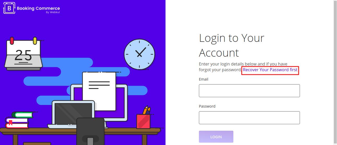 recover password