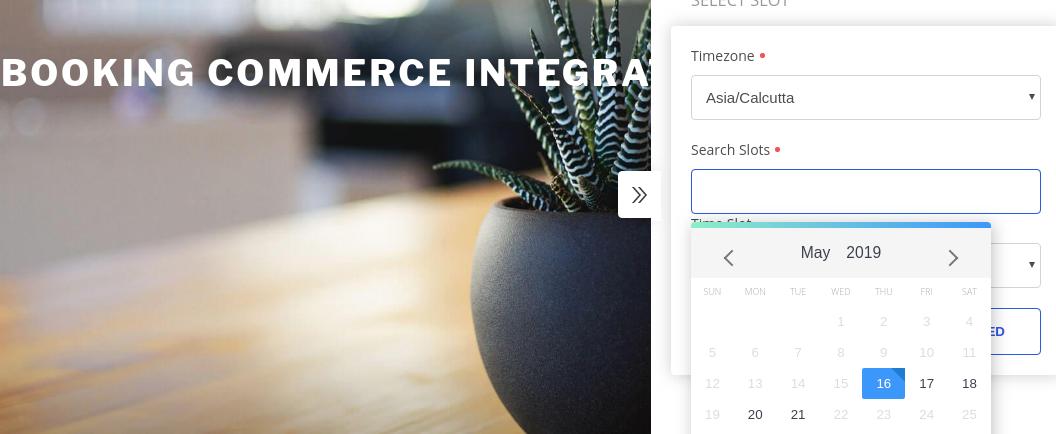 Booking commerce widget