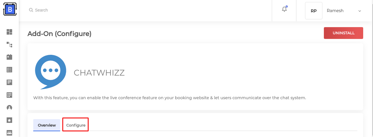 configure chatwhizz